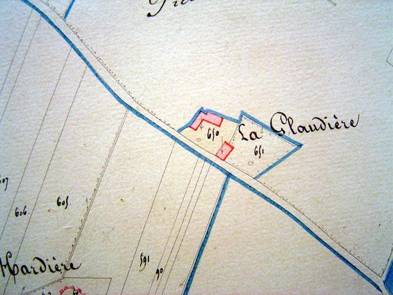 Sur le cadastre de 1834.