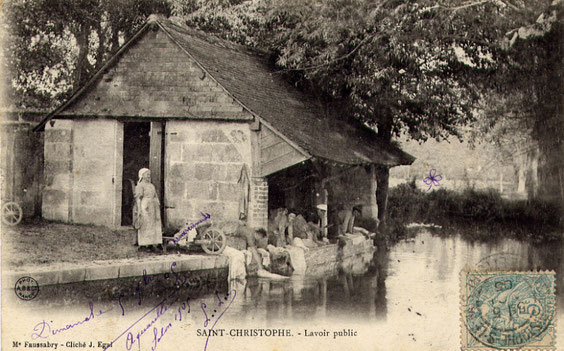 Le lavoir vers 1905