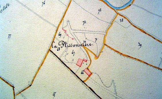 Sur le cadastre de 1834, il y avait 2 bâtiments.