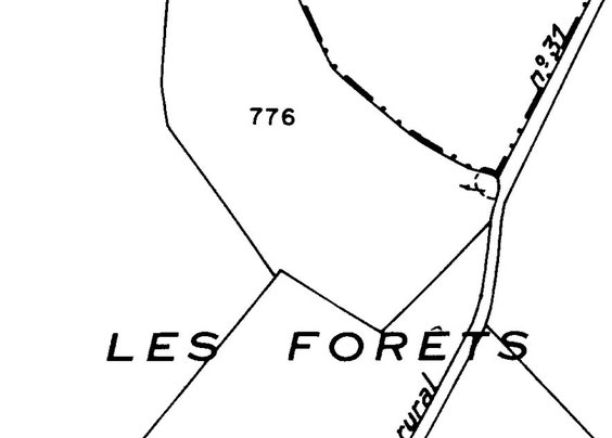 Sur le plan actuel, les ruines ne sont même pas mentionnées. Seulement un petit cercle pour la fuie.
