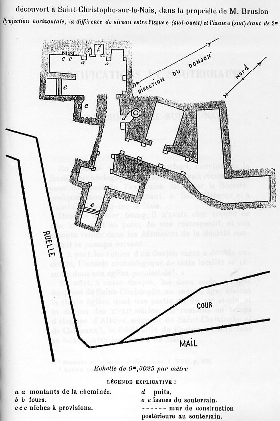 Plan établi par M. Gérin