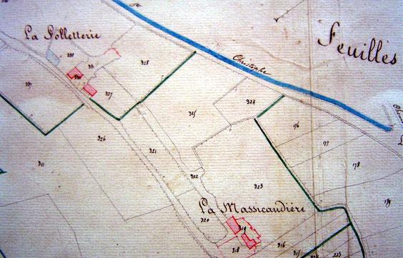 En 1834, la Folletterie se composait de deux bâtiments, de caves et d'une mare.