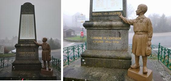 Le monument aux morts et détail.