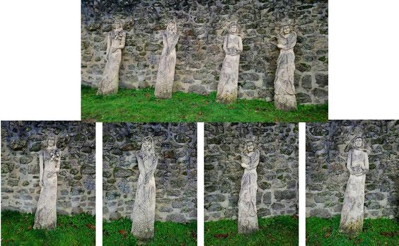 """Les quatre sculptures """"étrangères"""""""