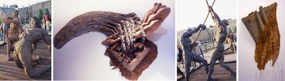Le gigantisme des oeuvres d'Ousmane Sow et le minimalisme de celles de Charles Simonds