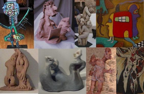 LA JEUNE GENERATION : Guallino / Smolec / Merlier / Françoise Pontanier / Raâk / Marie Jakobowicz / Kieffer / Christine Séfolosha