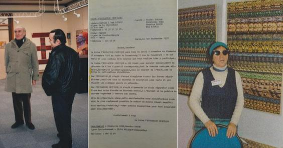Maurice Rapin et Mirabelle Dors et la lettre adressée aux invités du 1er salon (1978)