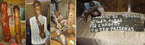 Sculptures en bois, longtemps entassées dans le gourbi
