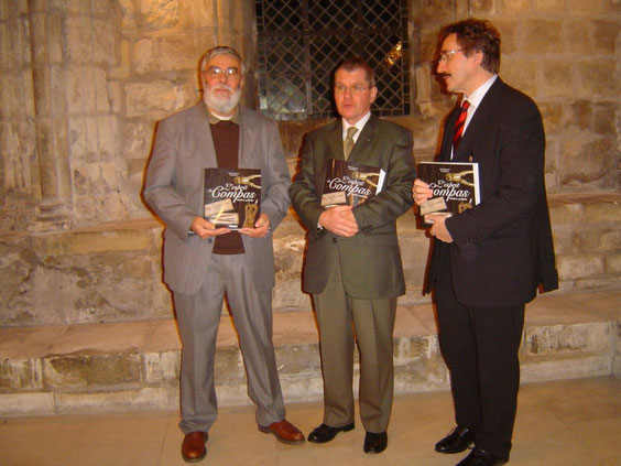 Les auteurs en compagnie de Laurent Bastard lors de la présentation du livre au Musée du Compagnonnage de Tours