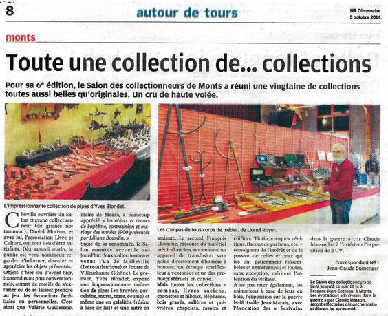 Article Nouvelle République 5-10-2014
