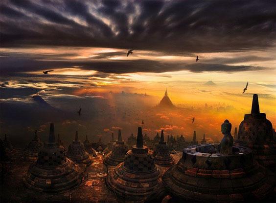 Temple de Borobodur (Indonésie)