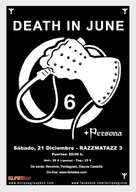 Death in june + Persona December 21st 2013
