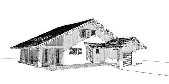 extension véranda d'une villa existante ( ARENTHON )