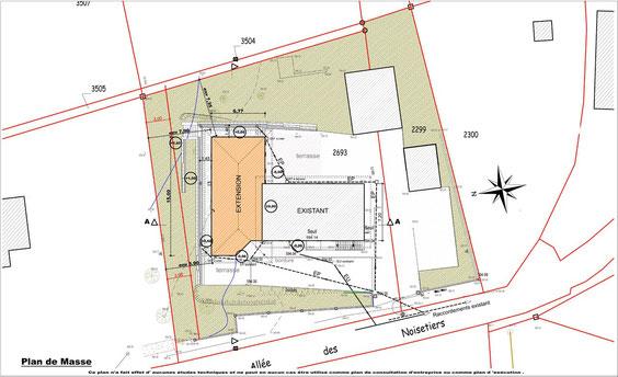 Pin exemple plan villa t4 on pinterest for Exemple plan de masse