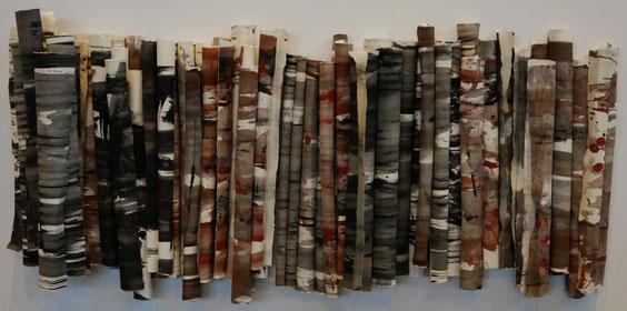 Schichtung, Acryl auf Papier, 77 x 170 cm