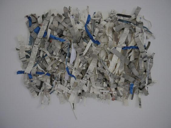 Schichtung, Acryl auf Papier,110 x 140 x 12 cm
