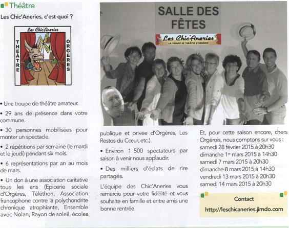 La Gazette D'Orgères Octobre 2014