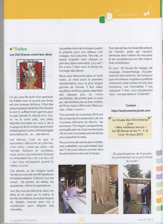 La Gazette d'Orgères Janvier 2015