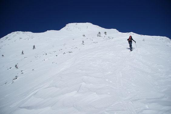 Kurz nach dem Vertatschasattel beim Aufstieg Richtung Bielschitza