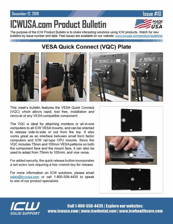 VESA75/100対応のディスプレイ、ミニPCなどの取付け、取外しを瞬時に行うようにすることができるVESAクイックコネクトプレート