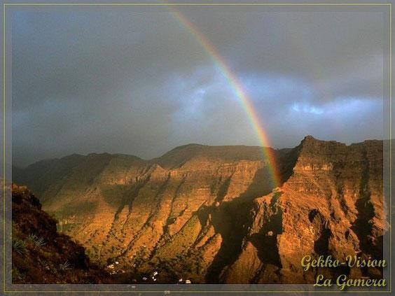 La Gomera Valle Gran Rey Regenbogen © Henner Riemenschneider Gekko-Vision La Gomera
