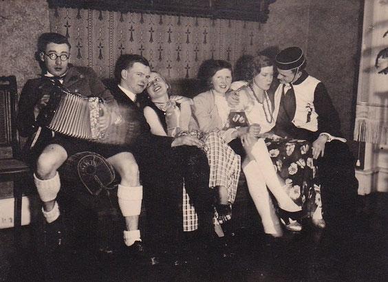 Fasching 23.02.1935 im Hotel Charlotte