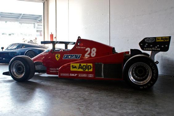 "Ferrari 126 C2 B '83 ""R. Arnoux"" - by Alidarnic (Modena Trackdays 2011)"