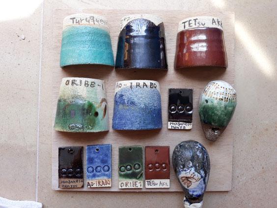 Esmalte y cerámica japonés