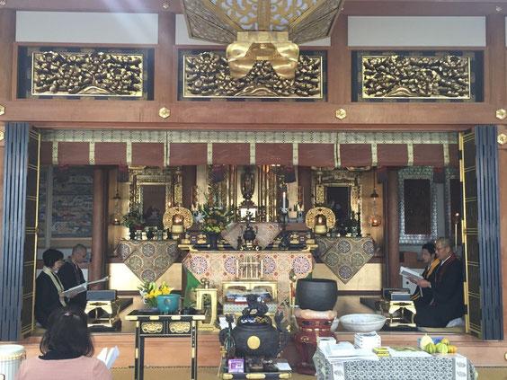 誓教寺の僧侶が4人(見習い1名含む)揃いました