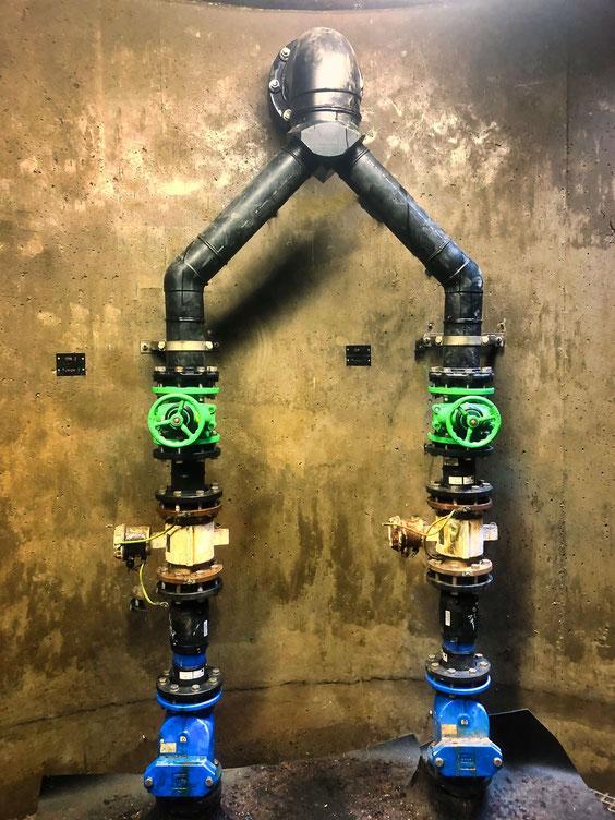 GAWAT Universal HDPE Hosenstück für Abwasser - Doppelpumpenanlage (Abwasserpumpenschacht)