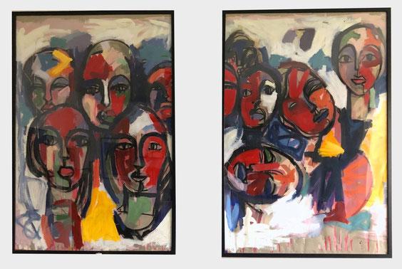 Debout les femmes - 2019 - 2 fois 80/120 cm collection privée Nantes