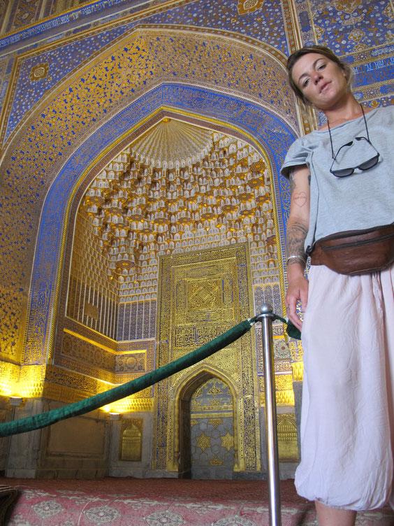 Isabelle Heindrichs während ihrer Usbekistanreise. Foto: privat