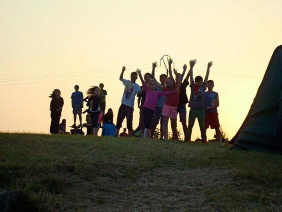 KLJ-Gruppe im Zeltlager