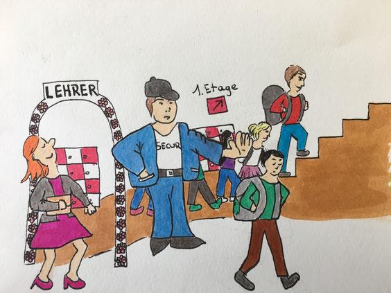 Für Lehrer erlaubt, für Schüler verboten. Ist das gerecht? Karrikatur: Aline Hans