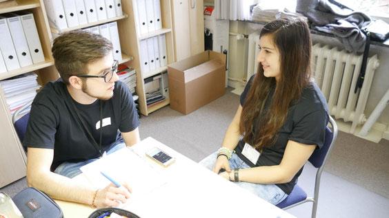 Onlineredakteur Luc Thannen und Chefredakteurin Luisa Lejeune.