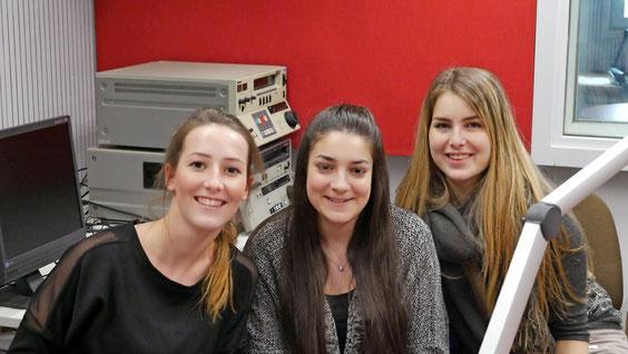 Das Radio-Team besteht aus Cleo Faymoville, Sarah Rosca und Alicia Mersch (v.l.n.r.).