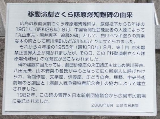 碑に設置されている説明板