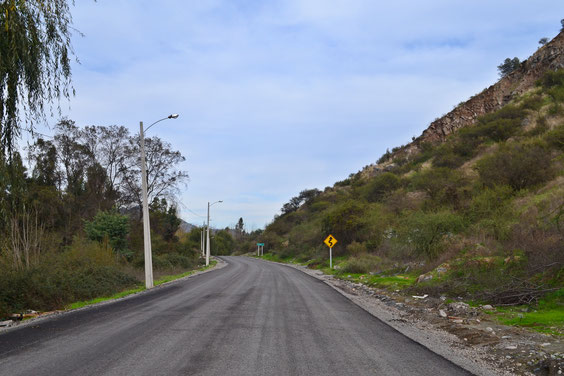 Camino La Puntilla (Trabajos de asfalto Abril de 2016)