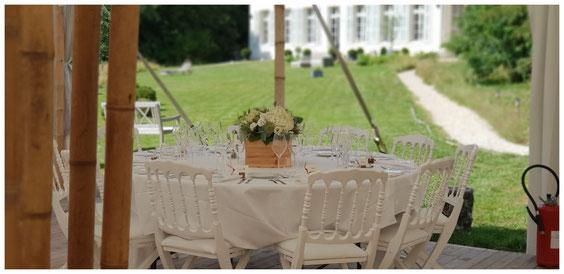 mariage chic et champêtre chapiteau bambou TENTE dans un château se marier domaine pour mariage île de france paris proche de paris salle de mariage château à louer pour mariage se marier dans un château près de paris 77