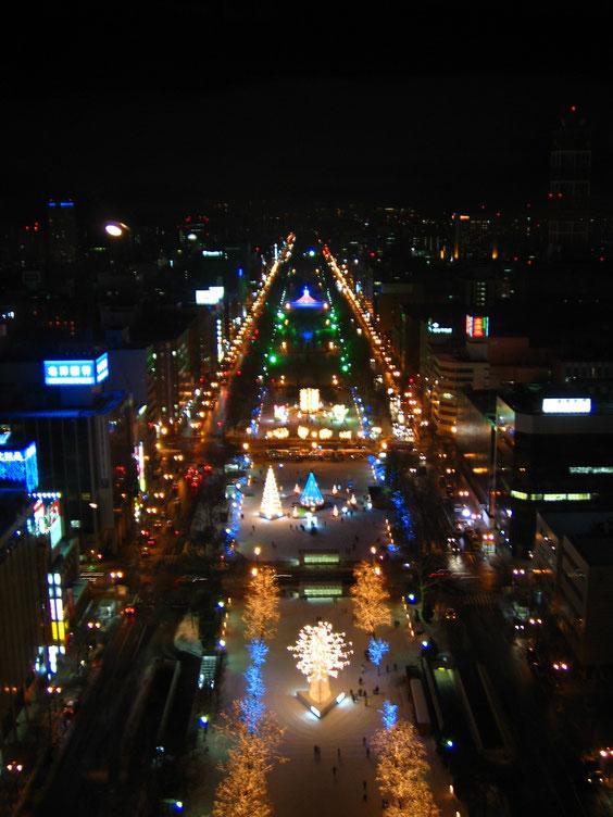 ◆札幌テレビ塔より。