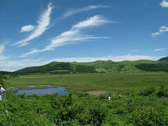 ◆絹引く青空の八島ヶ原湿原。長野県