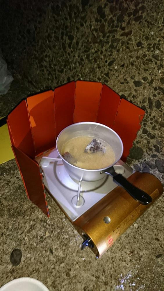 アラカブぶっこみ味噌汁食べたり。