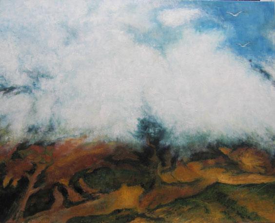 92 x 73 cm - al óleo sobre lienzo.