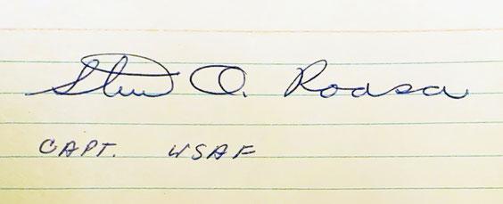 Autograph Stuart Roosa Autogramm