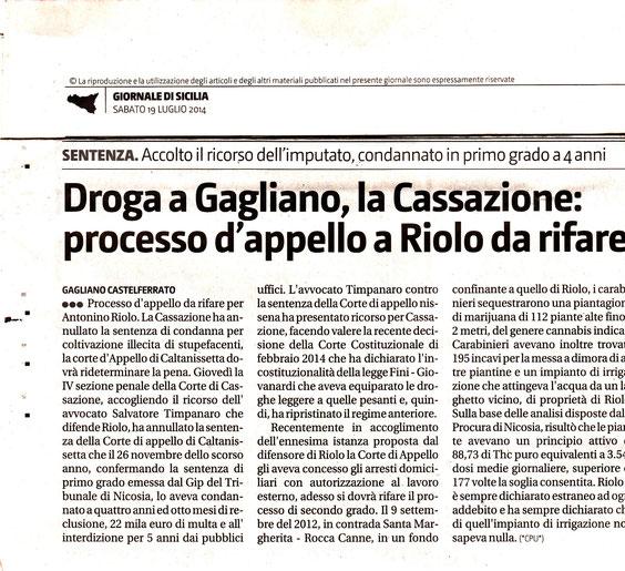 Giornale di Sicilia-Sabato 19 luglio 2014