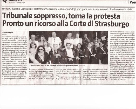 Giornale di Sicilia - Giovedì, 5 febbraio 2014