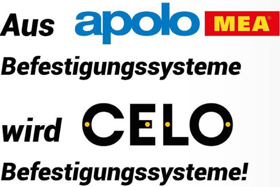apolo mea wird CELO Befestigungssysteme
