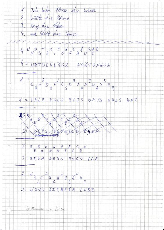 Das Tor Rätsel - Lösung nach dem Gartenzaunprinzip