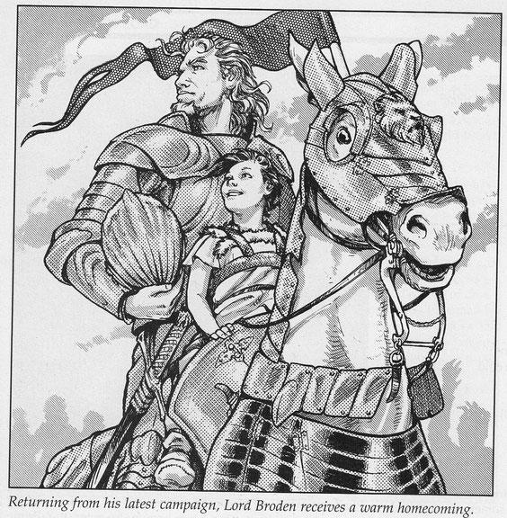 Lord Broden, Paladin Torms mit seinem Streitroß Silvermane (D76)