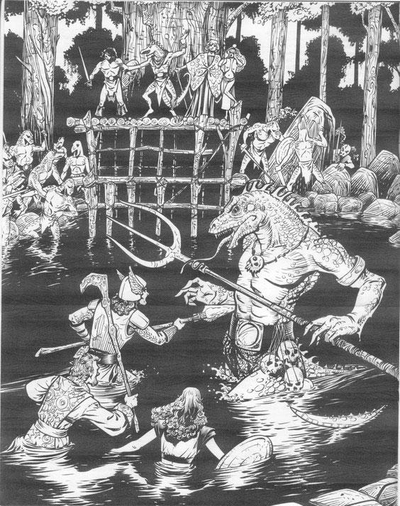 Der Kampf gegen den Echsenkönig